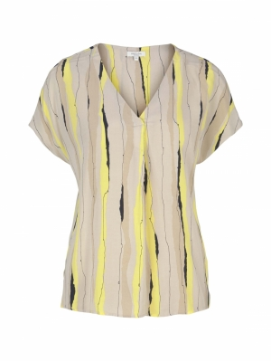 000000 772021 [blouse v-nec] 26555 yellow be