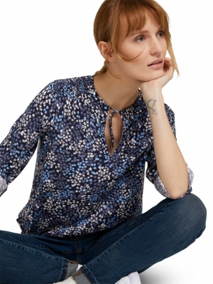 000000 702020 [blouse with] 26285 navy mult