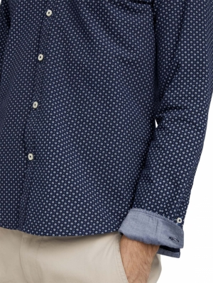 000000 102020 [fitted print] 25877 navy diag
