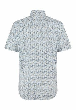 113330 113330 [Shirts KM] 5618 grijsblauw