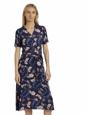 000000 705032 [wrap dress w] 24312 navy flor