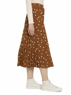 000000 715534 [midi plissé] 27593 brown dot